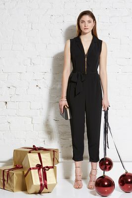 TENCEL revers jumpsuit cropped