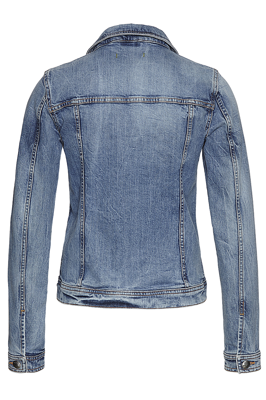 Denim jacket eco bleach