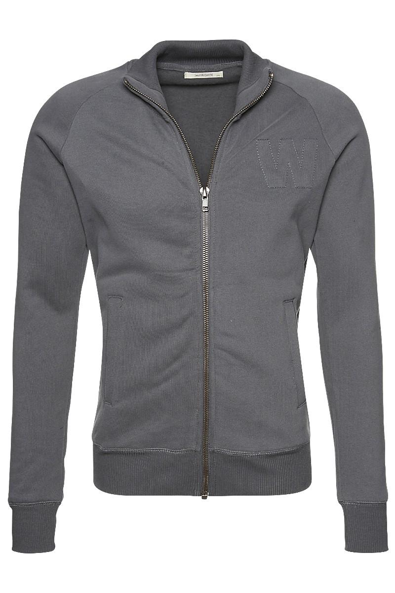 Soft sweat zipper jacket male
