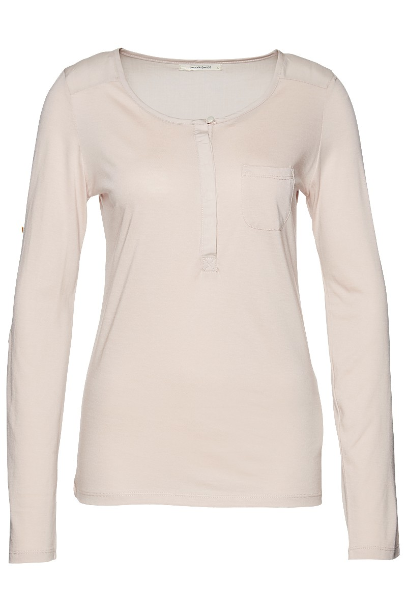 Henley blouse 1/1 tencel mix