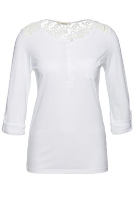 Royal lace henley blouse 1/1