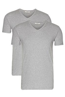 V-neck rib-tee 2-pack male
