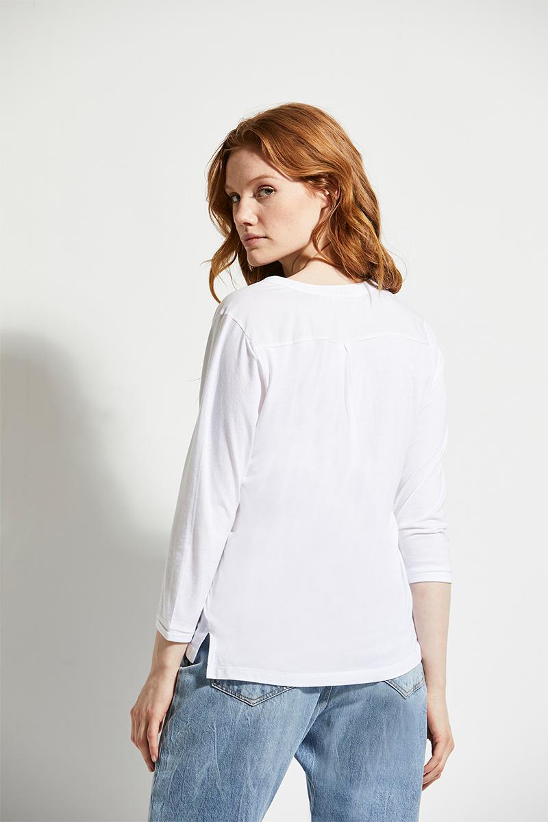 henley blouse 3/4 m.t.