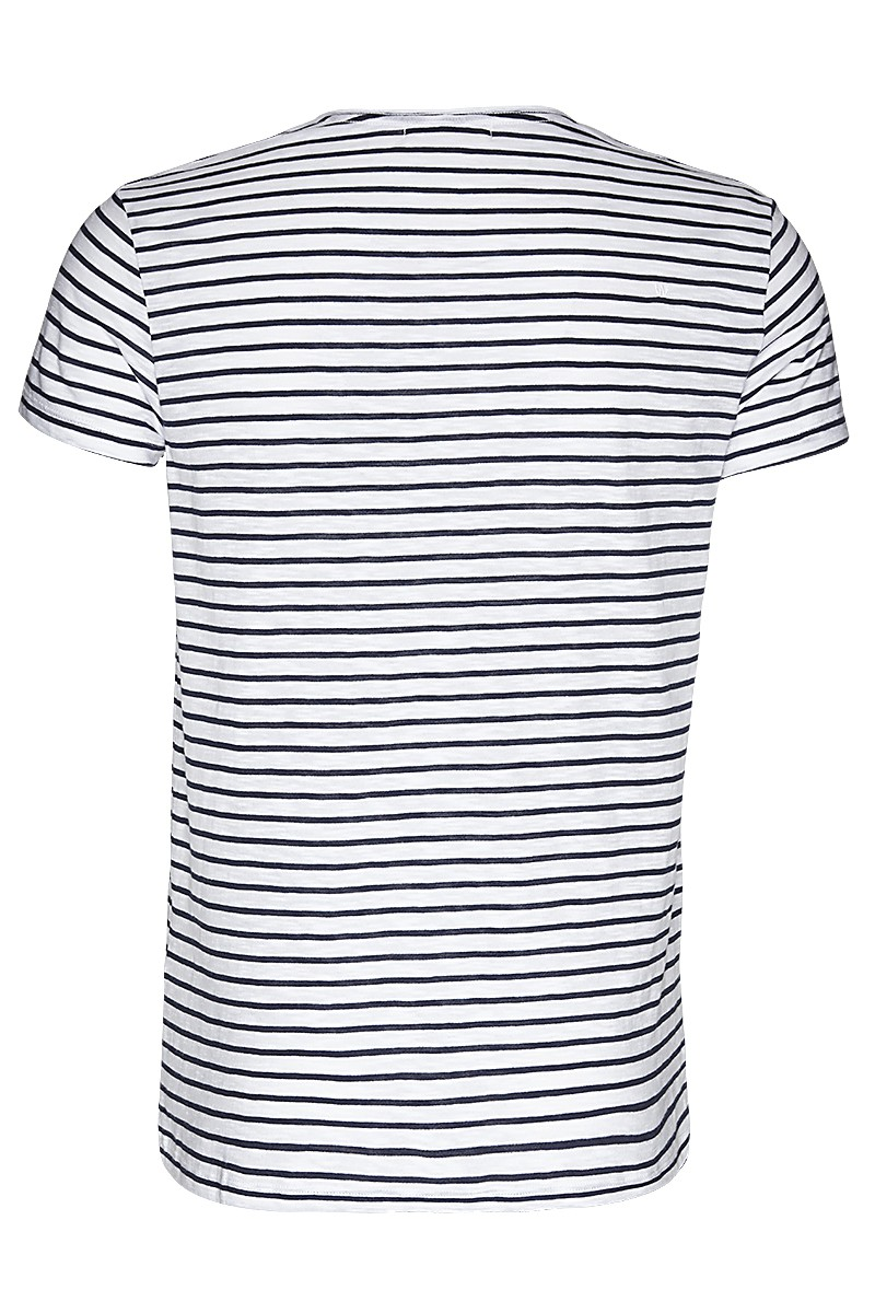 Slub tee stripe Don´t panic