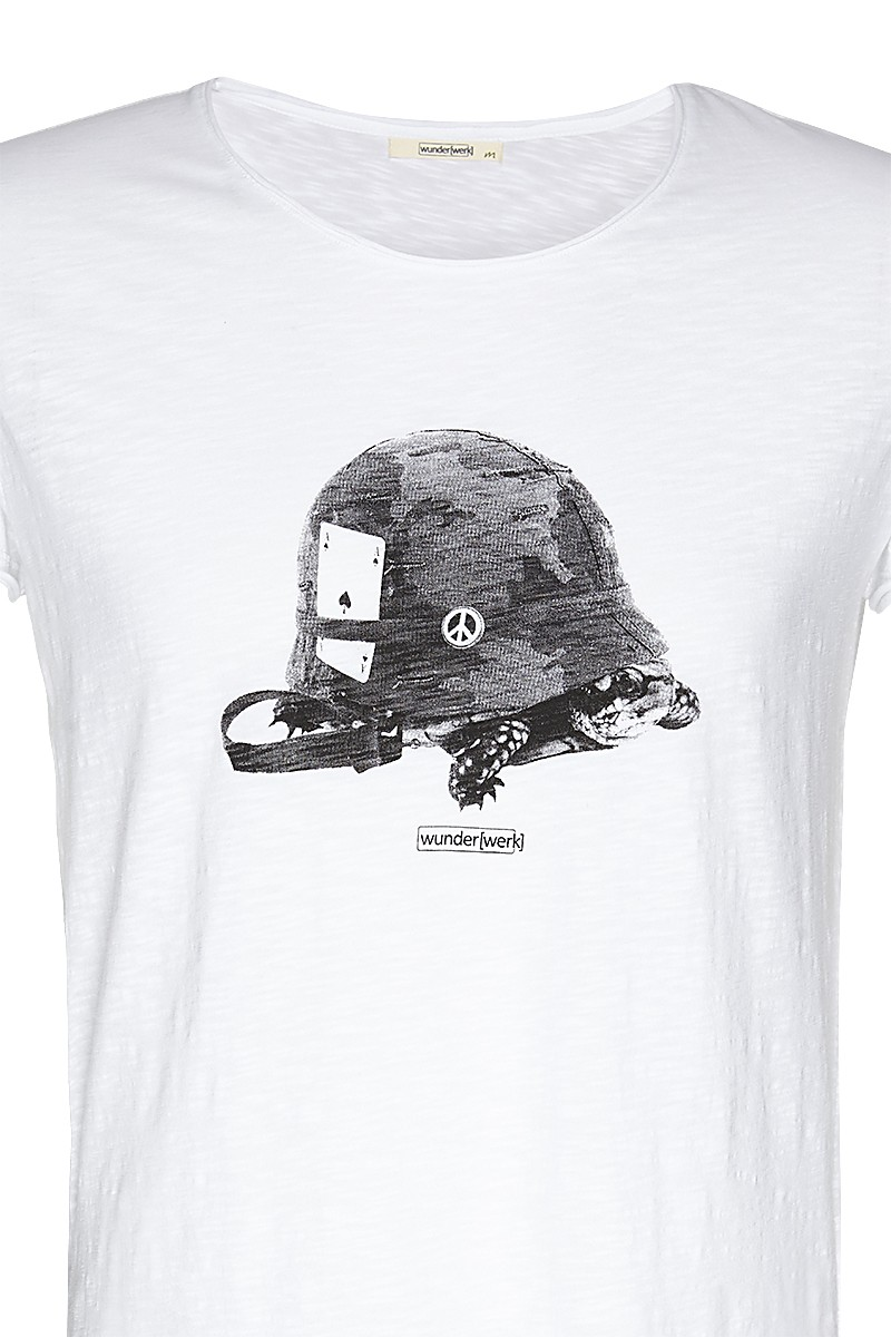 Slub tee turtle helmet male