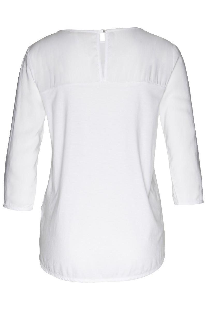 Crewneck blouse 3/4 tencelmix