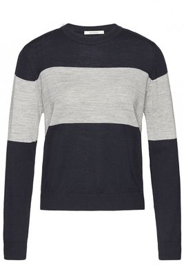 Crewknit colorblock merino