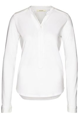 Henley blouse piping tencelmix