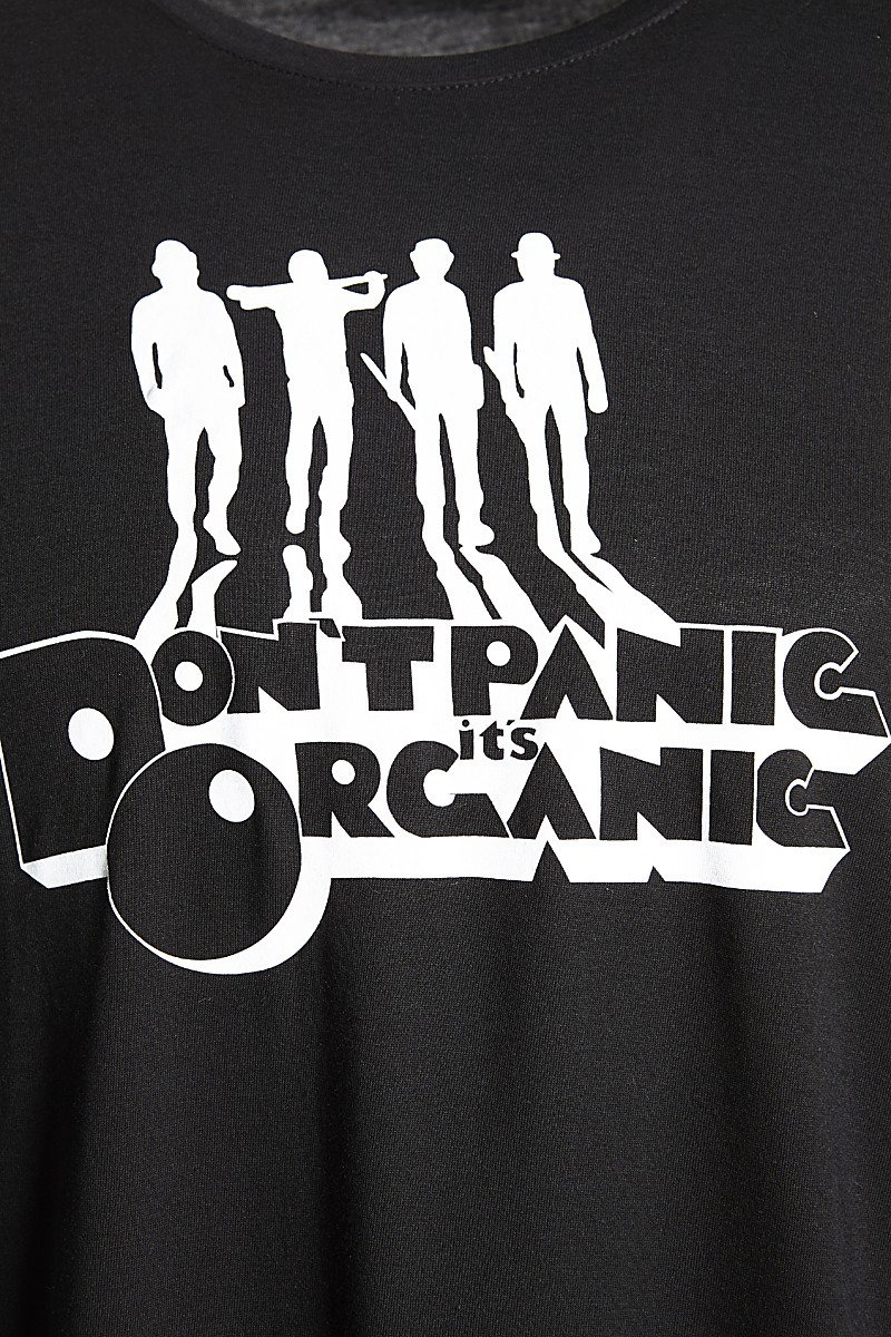 Tee don't panic orange male
