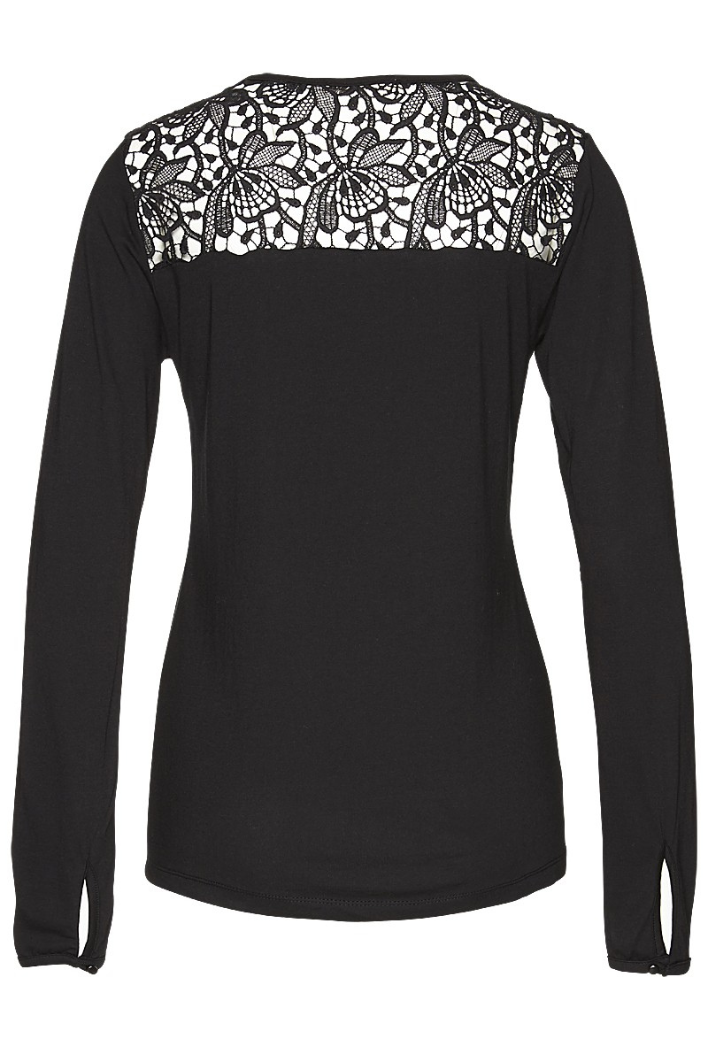Royal lace henley blouse