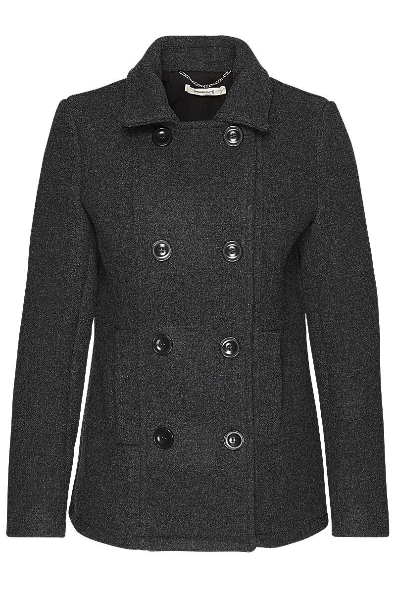 Caban jacket heavy wool