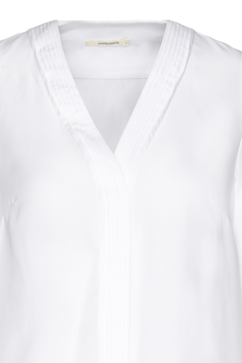 Tencel v-neck plissee