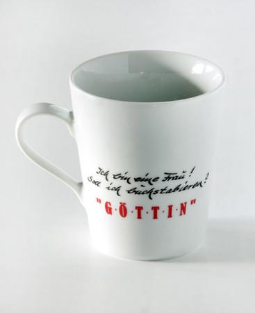 "Porzellan Tasse ""Göttin"" – Bild 2"