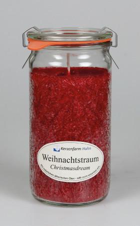 Duftkerze Stearin Weihnachtstraum im XL-Weckglas