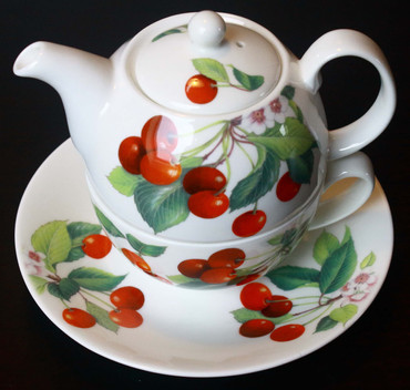Roy Kirkham Tea for one Set Cherry – Bild 1
