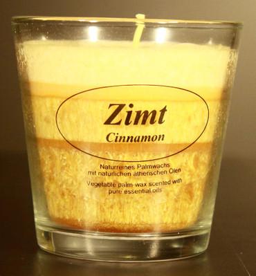 Duftkerze aus Bio-Stearin im Glas, Zimt – Bild 1
