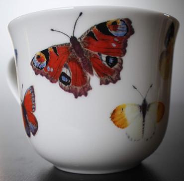 Roy Kirkham Frühstückstasse mit Untersetzer; Butterfly Garden – Bild 5