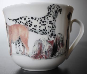 Roy Kirkham Frühstückstasse mit Untersetzer; Dogs Galore – Bild 3