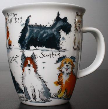 "Dunoon Kaffeebecher ""Nevis"" Messy Dogs – Bild 5"