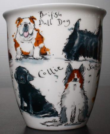 "Dunoon Kaffeebecher ""Nevis"" Messy Dogs – Bild 6"