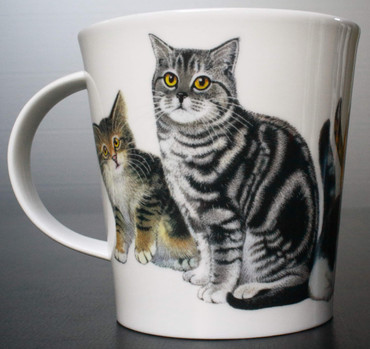 """Dunoon Kaffeebecher """"Cairngorm"""" Cats & Kittens Ginger – Bild 7"""