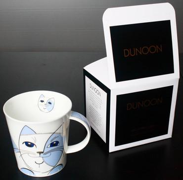 "Dunoon Kaffeebecher ""Cairngorm"" Sophisticats blau inkl. Geschenkbox – Bild 1"