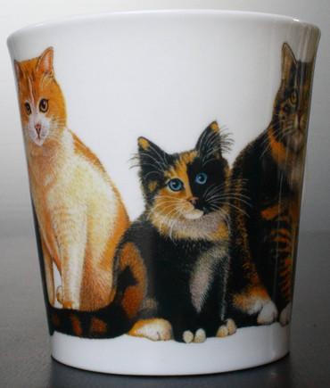 """Dunoon Kaffeebecher """"Cairngorm"""" Cats & Kittens Tabby inkl. Geschenkbox – Bild 6"""