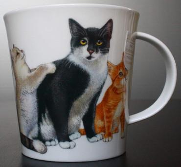 """Dunoon Kaffeebecher """"Cairngorm"""" Cats & Kittens B & W inkl. Geschenkbox – Bild 5"""