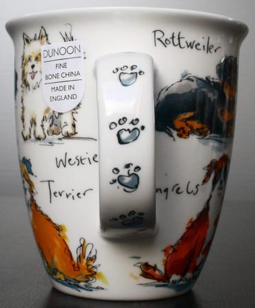 "Dunoon Kaffeebecher ""Nevis"" Messy Dogs inkl. Geschenkbox – Bild 4"