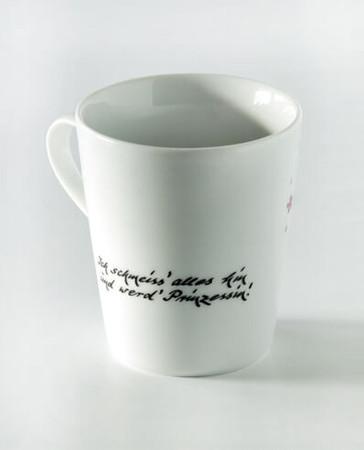 """Porzellan Tasse """"Ich schmeiß alles hin und werd Prinzessin"""" – Bild 2"""