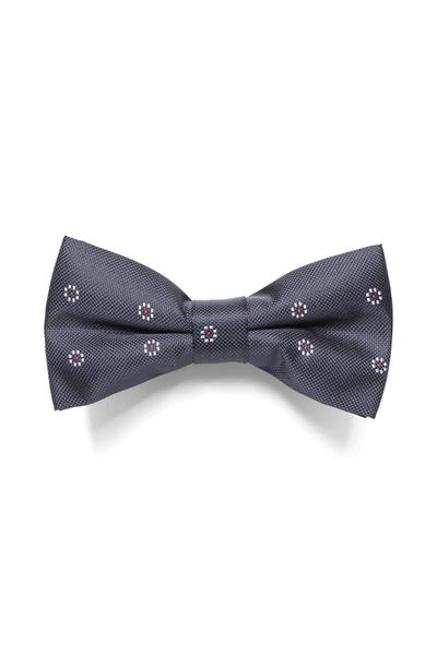 Black bow tie with design