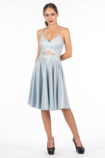 Kurzes Kleid in schimmernden Farben