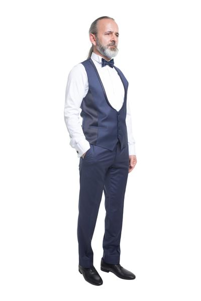 Groom suit with classic pattern