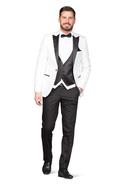 Silky gloss groom suit
