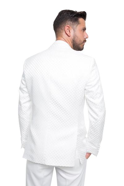 Groom suite with white patterns