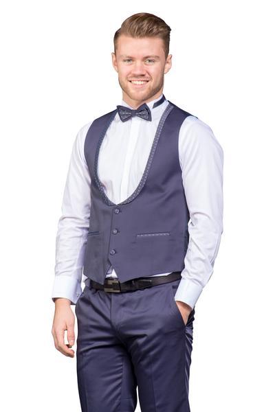 Glänzender Bräutigam Anzug als Vierteiler