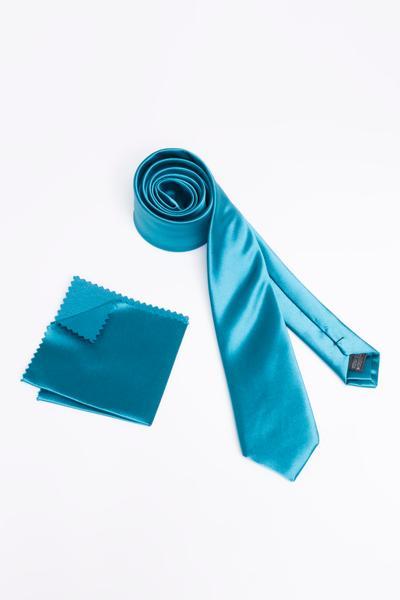 Moderne Krawatte aus glattem Polyester-Stoff