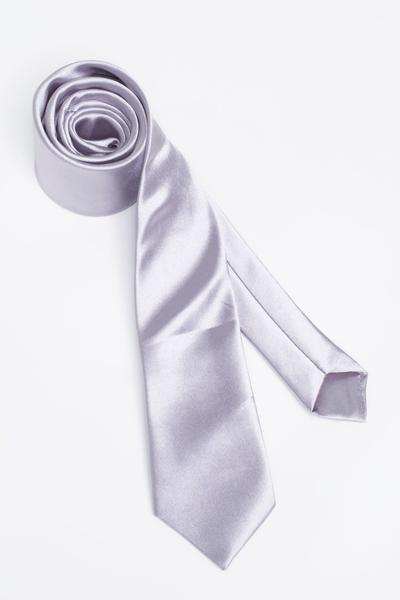 High-quality tie in fine metallic silver