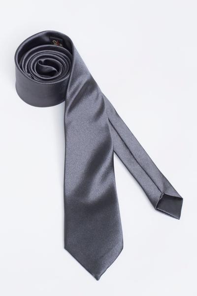 Monochrome tie with metallic shimmer