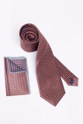 Cravatta unica con disegno floreale simmetrico