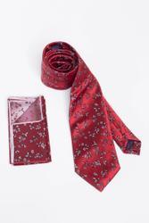 Verspielte rote Krawatte mit geschmeidigem Glanz 001