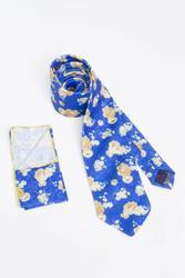 Corbata de cordones para hombres con motivos florales