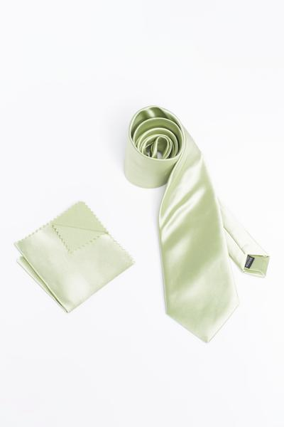 Pastel Green tie with silky satin look