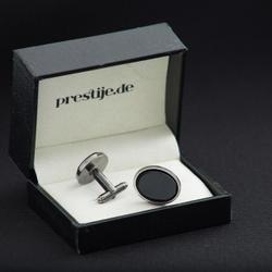 Cufflinks made of natural stone Onyx - oval