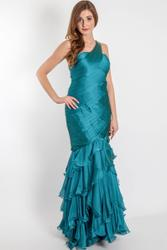 Exceptional evening dress with refined gathering Exceptional evening dress with refined gathering 001