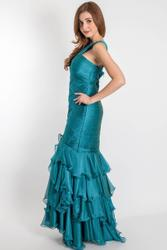 Exceptional evening dress with refined gathering Exceptional evening dress with refined gathering