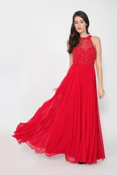 Glamouröses Neckholder-Abendkleid