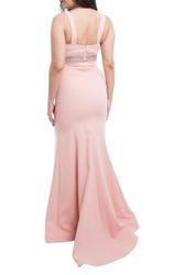 Elegant evening dress with rhinestone