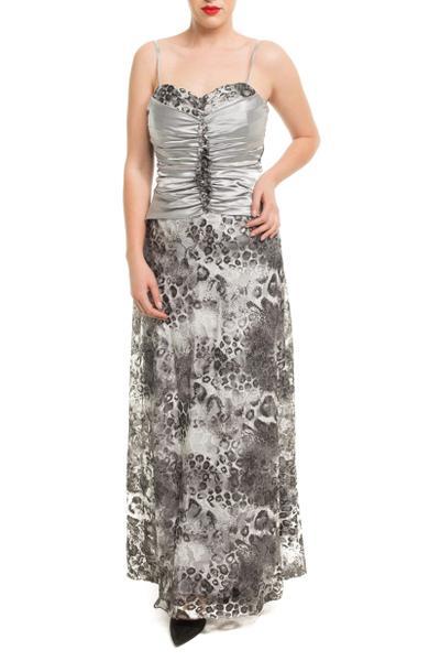 Extravagantes Kleid mit Animalrpint und Satin