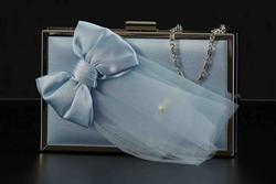 Sweet clutch with embroideries turquoise 001